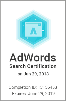 Siegel: Google AdWords Search Certification